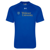Under Armour Royal Tech Tee-Primary Mark with Shield