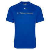 Under Armour Royal Tech Tee-Primary Mark with Shield Flat