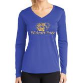 Ladies Syntrel Performance Royal Longsleeve Shirt-Widener Pride