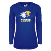 Ladies Syntrel Performance Royal Longsleeve Shirt-Widener Athletics