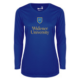 Ladies Syntrel Performance Royal Longsleeve Shirt-Stacked University Mark