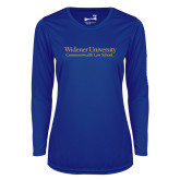Ladies Syntrel Performance Royal Longsleeve Shirt-Commonwealth Law
