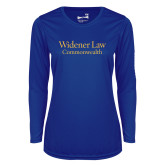 Ladies Syntrel Performance Royal Longsleeve Shirt-Commonwealth
