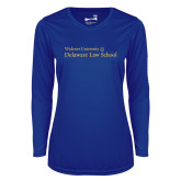 Ladies Syntrel Performance Royal Longsleeve Shirt-Delaware Law School