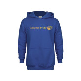 Youth Royal Fleece Hoodie-Widener Pride Flat