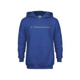 Youth Royal Fleece Hoodie-Primary Mark with Shield Flat