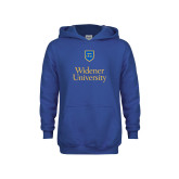 Youth Royal Fleece Hoodie-Stacked University Mark