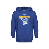 Youth Royal Fleece Hoodie-Basketball Net Design