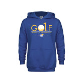 Youth Royal Fleece Hoodie-Golf Design