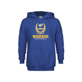 Youth Royal Fleece Hoodie-Football Helmet Design