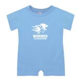 Light Blue Infant Romper-Widener Athletics