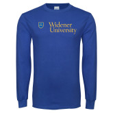 Royal Long Sleeve T Shirt-Primary Mark with Shield