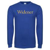 Royal Long Sleeve T Shirt-Widener