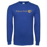 Royal Long Sleeve T Shirt-Widener Pride Flat
