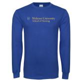Royal Long Sleeve T Shirt-School of Nursing