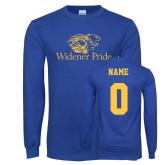 Royal Long Sleeve T Shirt-Widener Pride, Custom Tee w/ name and #