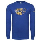 Royal Long Sleeve T Shirt-Widener Pride Mark