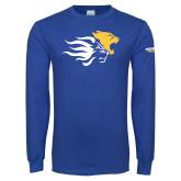 Royal Long Sleeve T Shirt-Widener Mascots Mark