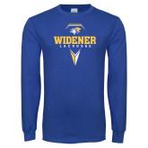Royal Long Sleeve T Shirt-Lacrosse Design