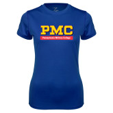 Ladies Syntrel Performance Royal Tee-PMC