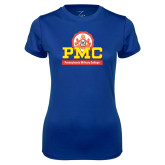 Ladies Syntrel Performance Royal Tee-PMC Stacked