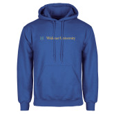 Royal Fleece Hoodie-Primary Mark with Shield Flat