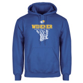 Royal Fleece Hoodie-Basketball Net Design