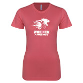 Next Level Ladies SoftStyle Junior Fitted Pink Tee-Widener Athletics