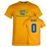 Gold T Shirt-Widener Pride, Custom Tee w/ Name and #