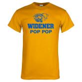 Gold T Shirt-Widener Pride Pop Pop