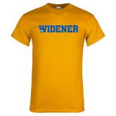 Gold T Shirt-Widener Wordmark