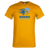 Gold T Shirt-Widener Athletics Distressed
