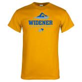 Gold T Shirt-Swimming Design