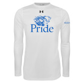 Under Armour White Long Sleeve Tech Tee-Pride