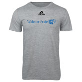 Adidas Sport Grey Logo T Shirt-Widener Pride Flat