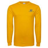 Gold Long Sleeve T Shirt-Widener Pride