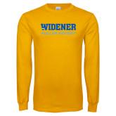 Gold Long Sleeve T Shirt-Roller Hockey