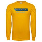 Gold Long Sleeve T Shirt-Ice Hockey