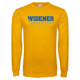 Gold Long Sleeve T Shirt-Mens Rugby
