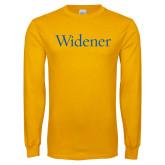 Gold Long Sleeve T Shirt-Widener