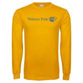 Gold Long Sleeve T Shirt-Widener Pride Flat