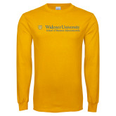 Gold Long Sleeve T Shirt-School of Business Administration