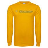 Gold Long Sleeve T Shirt-Center for Hospitality Management