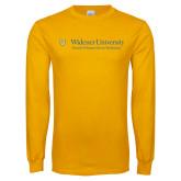 Gold Long Sleeve T Shirt-School of Human Service Professions
