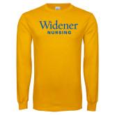 Gold Long Sleeve T Shirt-Nursing