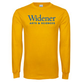 Gold Long Sleeve T Shirt-Arts and Sciences