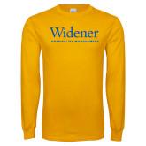 Gold Long Sleeve T Shirt-Hospitality Management