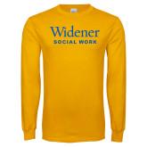 Gold Long Sleeve T Shirt-Social Work