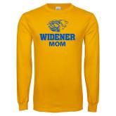 Gold Long Sleeve T Shirt-Widener Pride Mom