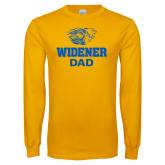 Gold Long Sleeve T Shirt-Widener Pride Dad